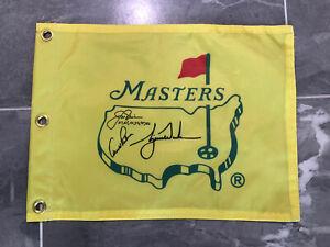 Undated Masters Souvenir Flag w/ Tiger Woods,Jack Nicklaus & Arnold Palmer PGA