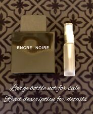 Lalique Encre Noire 10ml Glass Travel Spray. Free Sample and Shipping!