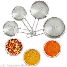 Andrew James Measuring Cups Set Stainless Steel X 4 1/4 - 1 Cup Size