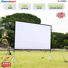 150Inch 16:9 Collapsible HD Projector Screen HD Home Outdoor Use W/ Hanging Hole