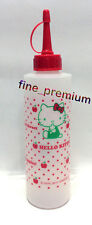 Hello Kitty Clear Squeeze Sauce Ketchup Mustard Mayonnaise Salad Dressing Bottle