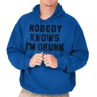 Nobody Knows Im Drunk Funny Drinking Party Hoodies Sweat Shirts Sweatshirts