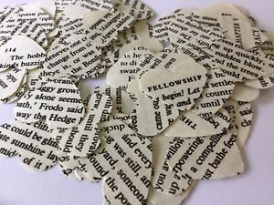 100 Vintage/ Shabby Chic Lord Of The Rings Heart Table Confetti