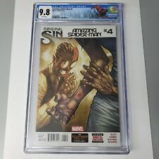 Amazing Spider-Man #4 2014 CGC 9.8 White Pages 1st appearance Silk Marvel Comics