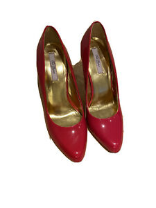Ted Baker Court Shoe Red Patent Size 7
