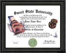 Chocolate Lover's Doctorate Diploma / Degree Custom made & Designed for You