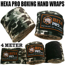HEXA Pro Hand Wraps Boxing MMA UFC Wrist Guards Cotton Bandages Gloves Strap Camo Green