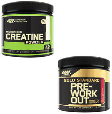 Optimum Nutrition Micronised Creatine 144g + Gold Standard Pre-Workout Energy