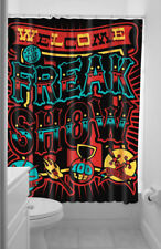 Freak Show Punk Circus Style Shower Curtain Bathroom Waterproof Fabric 71X79inch