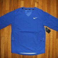 Nike Baseball Hot Jacket 3/4 Short Sleeve Mens M 897383-493 Royal Blue New $85