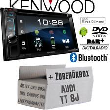 Kenwood Autoradio Pour Audi Tt 8J Bus Can Lfb Actif Bose Bluetooth DAB+ USB Kit