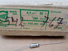 280 Stk. Tantal Kondensatoren Frolyt VEB RFT 4.7 uf 35 V Tgl 200-8519