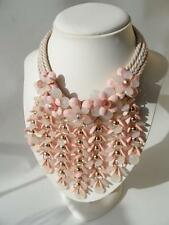 FABULOUS STATEMENT PIECE GLAMOUR  FACETTED RESIN BEADS FLORAL DROPLET NECKLACE