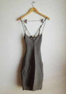 Misha Collection Jazlyn Bandage Midi Dress Size 10 AU 6 US RRP $280 - Khaki