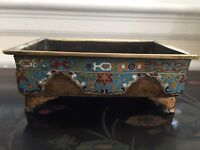 19th Cent Heavy Imperial Chinese Cloisonné Incense Burner -import.provenance