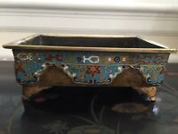 19th Cent Heavy Imperial Chinese Cloisonné Incense Burner - import.Provenance