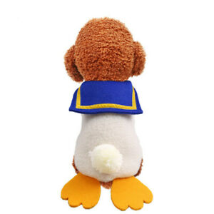 OEM pet clothing dog cat autumn winter big fat duck vest