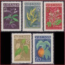VIETNAM du NORD N°349/353** Fleurs, 1963 North Vietnam 280-284 Flowers MNH