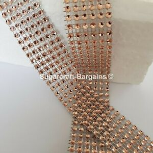 BLING RIBBON SPARKLY Sugarcraft Cake SILVER Card craft mesh ribbons diamonte