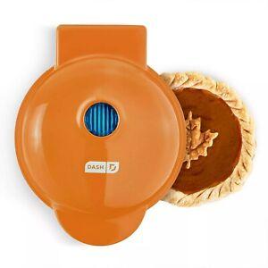 Dash Mini Pie Maker Orange - Dual Non Stick Pie Plates Includes Dough Cutter NEW