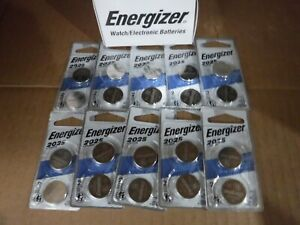( Box of 10 Pairs) Energizer 3-Volt Lithium 2025/+CR2025 Batteries NEW.
