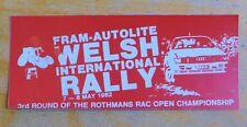 1982 Fram Autolite Welsh International Rally Motorsport Sticker / Decal