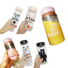 Cute Clear Portable Leakproof Cycling Water Bottle Impregnable Plastic Kettle