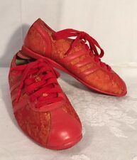 Adidas SAIGON MATERIALS OF THE WORLD Red Gold Mens Size US 5 1/2 Sneakers