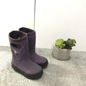 Glosh By Bogs Boots Toddler Girls Size 7 Purple Waterproof Rain Snow