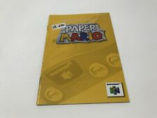 Paper Mario - Nintendo 64 N64 - Instruction Manual Only booklet