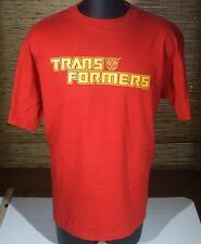 Vintage 90s Transformers Red & Gold Autobots T-Shirt Changes Tag Size XL