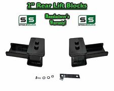 "2004 - 2017 Ford F-150 F150 REAR 2"" inch Tapered Fab Lift Blocks with Bumpstop"