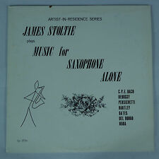James Stoltie plays Music for Saxophone Alone-Coronet 3036 NM