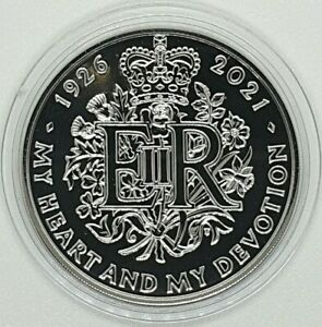 2021 Queen Elizabeth 95th Birthday BU £5 coin Five Pound - supplied in a capsule