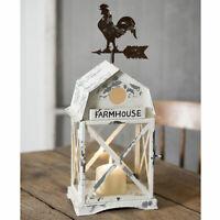 Primitive/Country Farmhouse Martinsville Candle Lantern Rustic Chicken