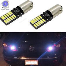 2Pcs Error Free White Bay9s H21W 64136 24-SMD Backup Lights LED Bulbs For VW CC