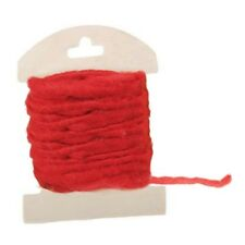 5 Meter Filzkordel in Rot, 5 mm