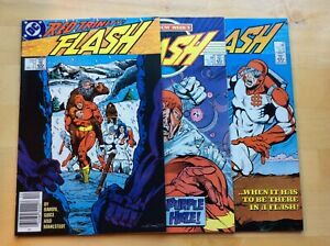 FLASH LOT (1987) #7,8,12 (VF) BARON & GUICE, MILLENNIUM, BONUS BOOK