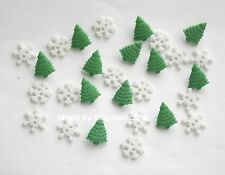 Tiny Blizzard Holiday Buttons / Buttons Galore / Tiny Trees & Snowflakes