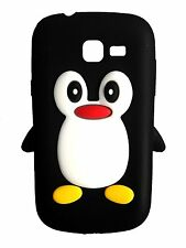 Black Silicone Penguin Phone Case / Cover for Samsung Galaxy Fresh S7390