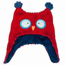 ANNABEL TRENDS PILLOW PALS RED/BLUE OWL BABY KIDS BONNET HAT DELIVERY
