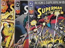 ACTION COMICS LOT OF 3 - #690 #692 #693 (NM-) SUPERMAN