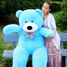 78'' Giant Big Stuffed Cute Plush Teddy Bear Blue Huge Soft Toy Doll Bears Gift