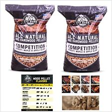 2 pack Pit Boss Competition Blend BBQ Pellets 40 lb. in Resealable Bag