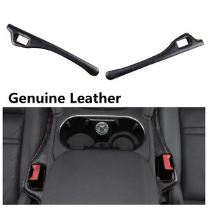 Universal Leather Car 2 Side Seat Gap Console Filler Leak Proofing Stop Pad 2Pcs