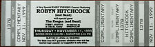 More details for robyn hitchcock first avenue minneapolis 11 nov 1999 unused complimentary ticket
