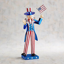 Pier 1 Imports 4th of July Uncle Sam Glitter Figurine Sold Out