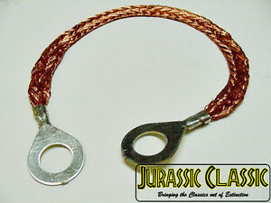 "For 1967-1987 AMC 8"" Ground Wire Strap Strip Bonding Ring 10 AWG 5/16-3/8 Nos"