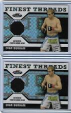 (2) 2011 TOPPS UFC FINEST EVAN DUNHAM CARDS LOT ~ 001/188 & 002/188 ~  UFC MMA