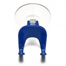 Suction Cup Razor Holder Single Rack Bathroom Shower Bath Clear Blue Plastic